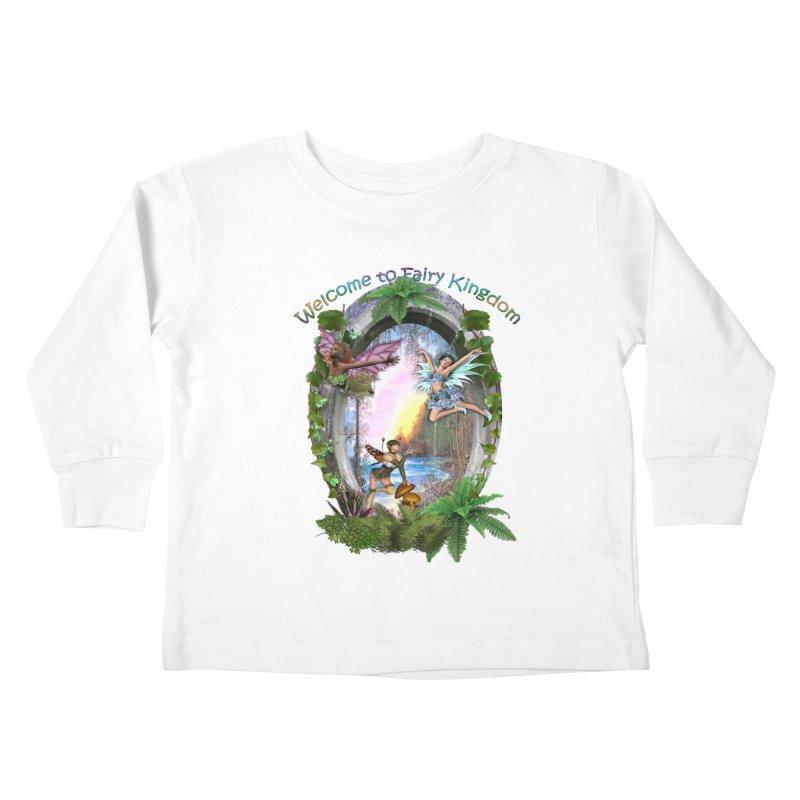 Fairy Kingdom Kids Toddler Longsleeve T-Shirt by NadineMay Artist Shop