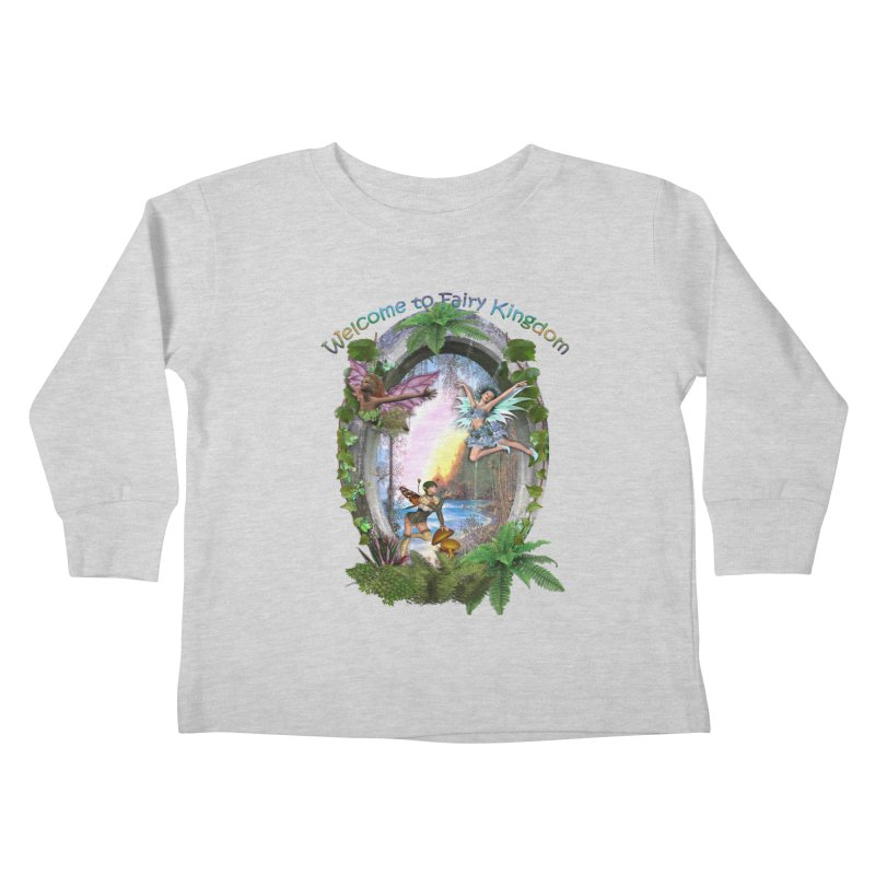 Fairy Kingdom Kids Toddler Longsleeve T-Shirt by NadineMay Artist Shop