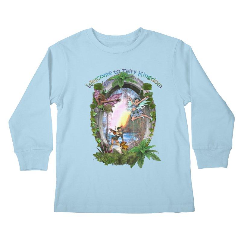 Fairy Kingdom Kids Longsleeve T-Shirt by NadineMay Artist Shop
