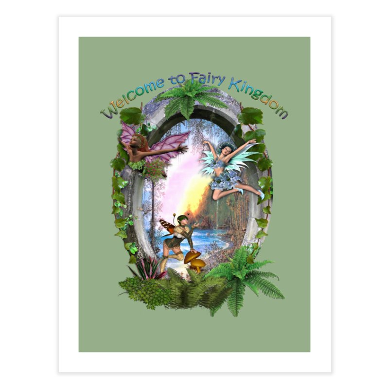 Fairy Kingdom Home Bath Mat by NadineMay Artist Shop