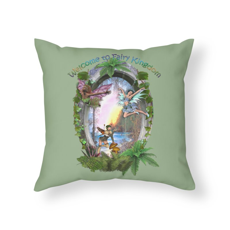 Fairy Kingdom Home Throw Pillow by NadineMay Artist Shop