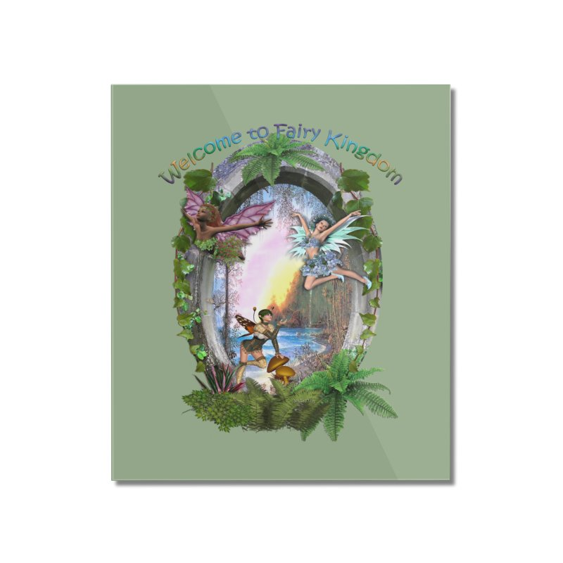 Fairy Kingdom Home Mounted Acrylic Print by NadineMay Artist Shop