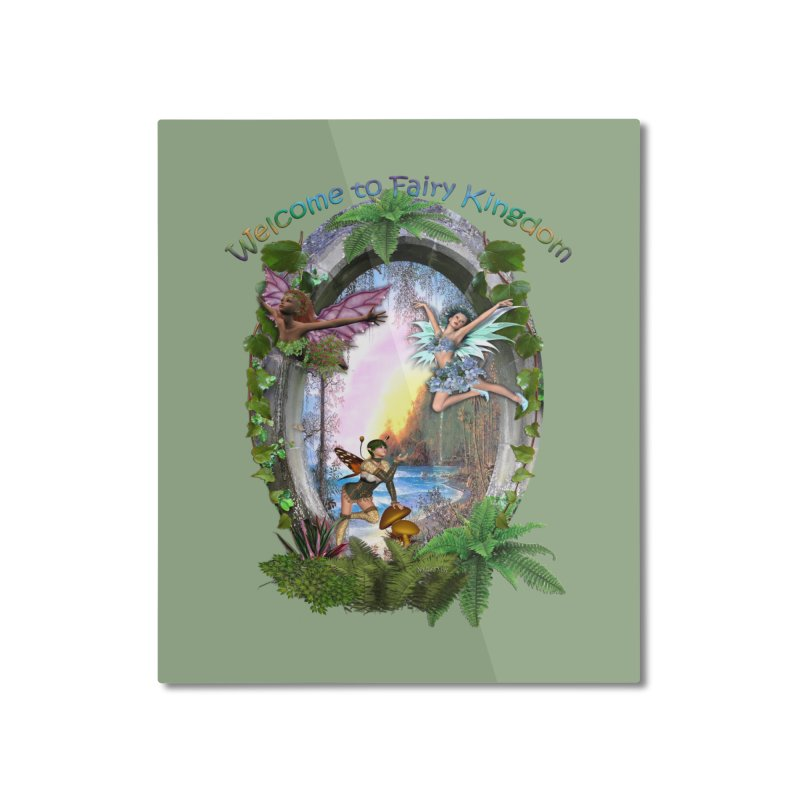 Fairy Kingdom Home Mounted Aluminum Print by NadineMay Artist Shop