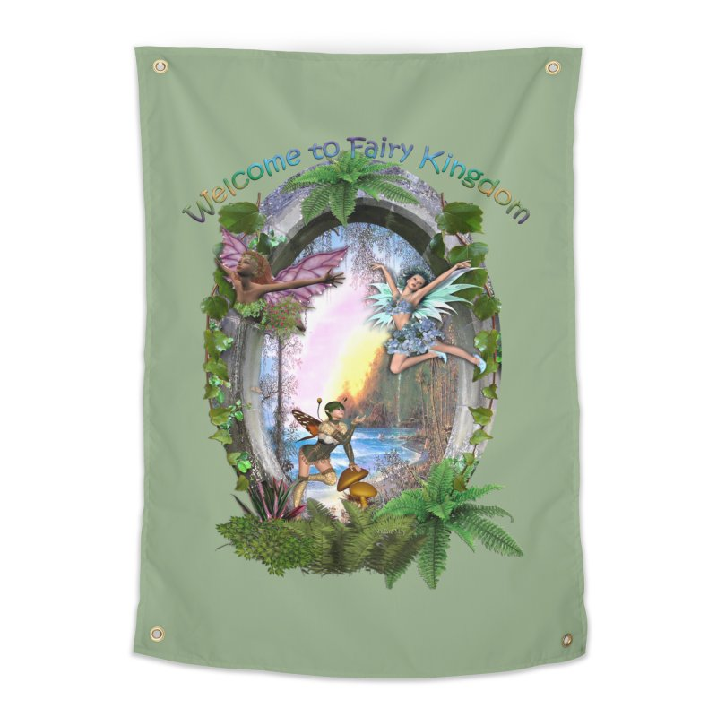 Fairy Kingdom Home Tapestry by NadineMay Artist Shop