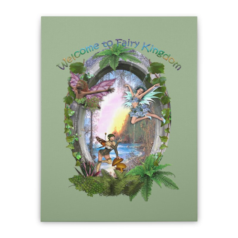 Fairy Kingdom Home Stretched Canvas by NadineMay Artist Shop