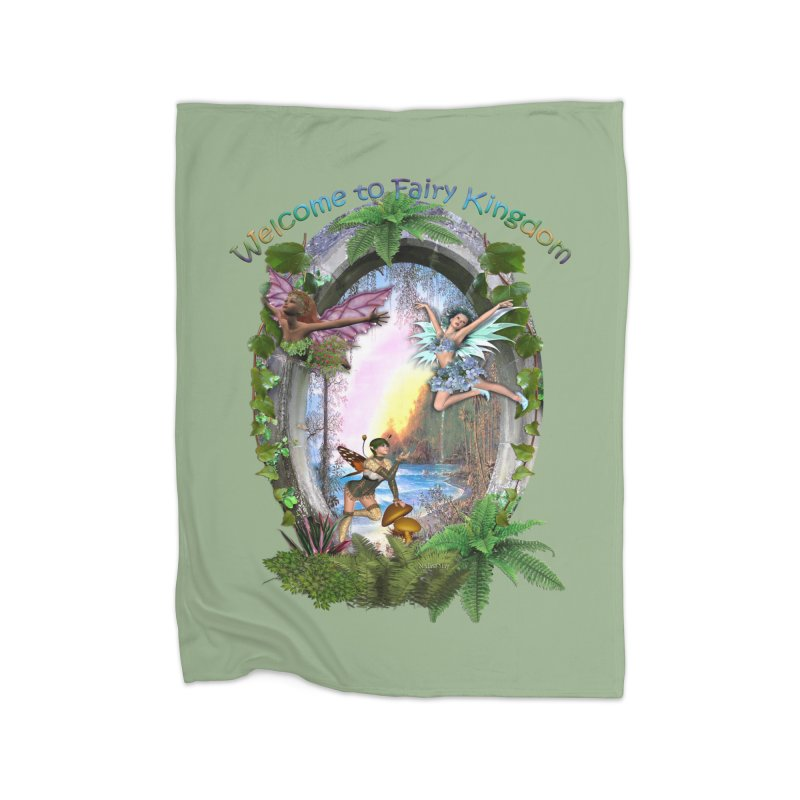 Fairy Kingdom Home Blanket by NadineMay Artist Shop