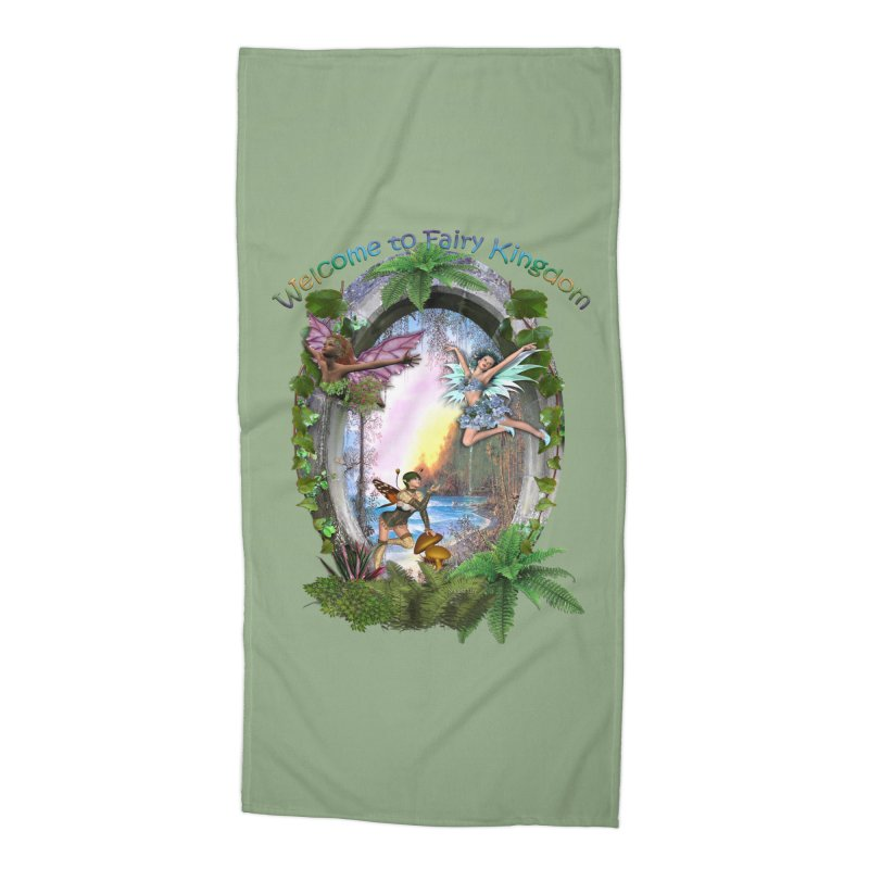 Fairy Kingdom Accessories Beach Towel by NadineMay Artist Shop