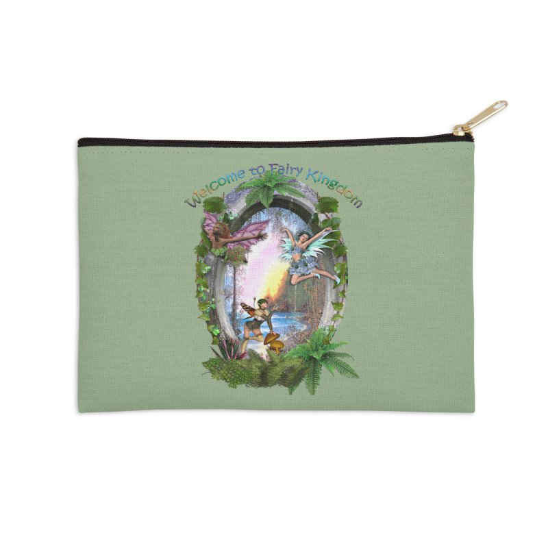Fairy Kingdom Accessories Zip Pouch by NadineMay Artist Shop