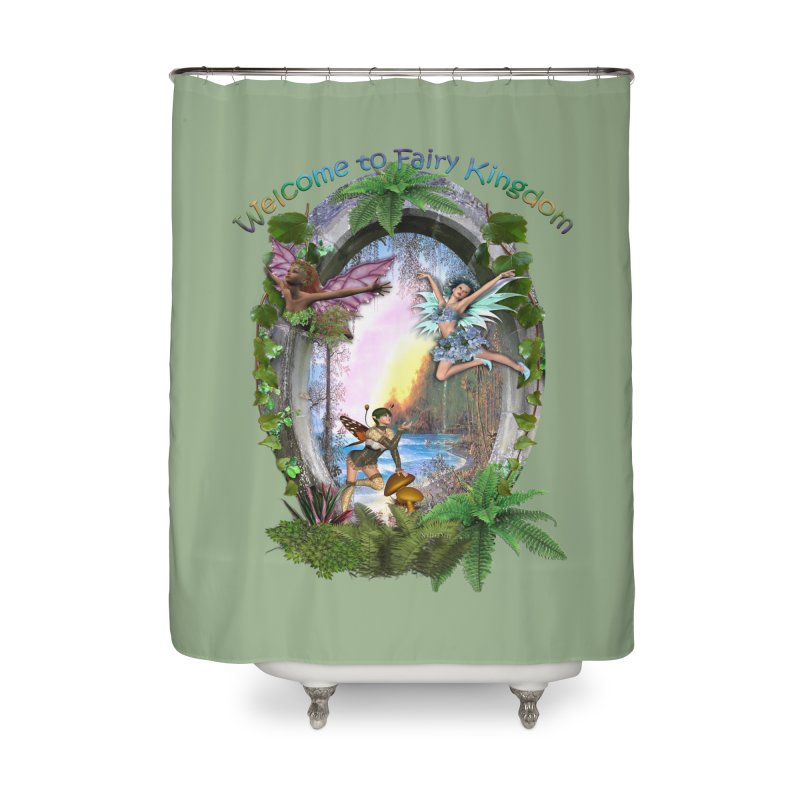 Fairy Kingdom Home Shower Curtain by NadineMay Artist Shop