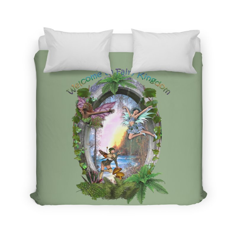 Fairy Kingdom Home Duvet by NadineMay Artist Shop