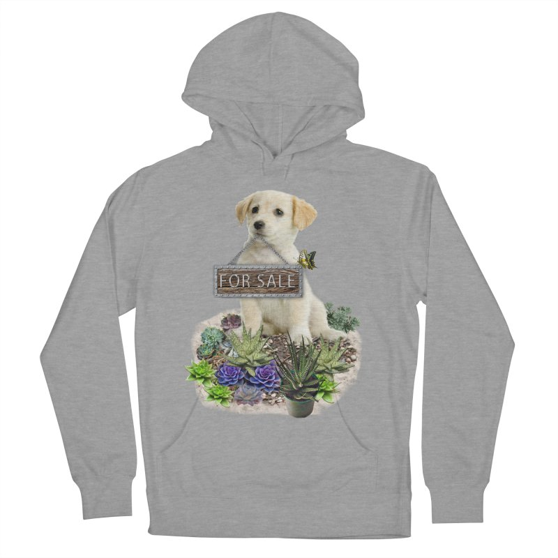 Labrador-Retriever puppy is for sale Women's French Terry Pullover Hoody by NadineMay Artist Shop