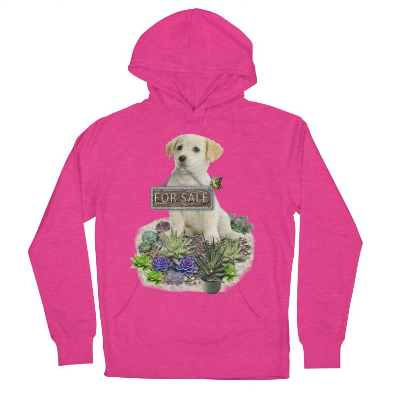 Labrador-Retriever puppy is for sale Women's Pullover Hoody by NadineMay Artist Shop