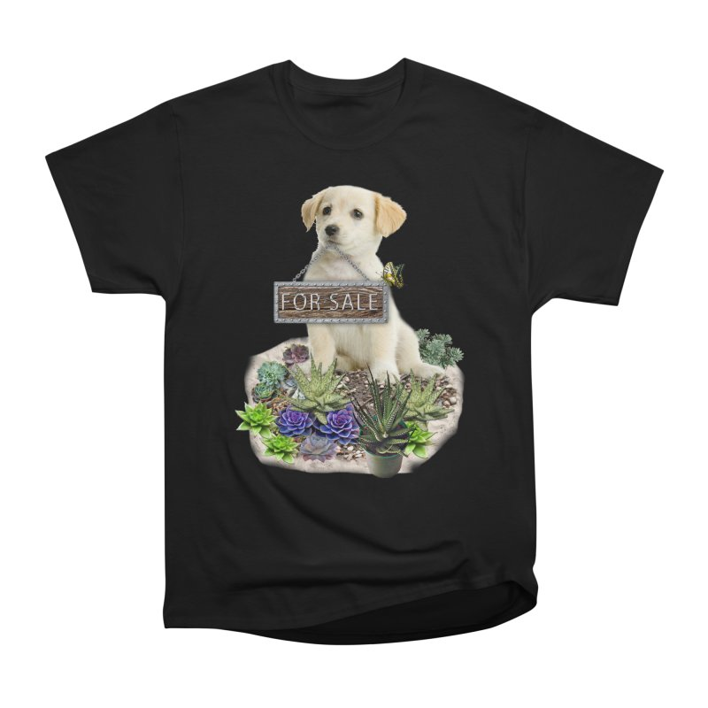Labrador-Retriever puppy is for sale Women's Heavyweight Unisex T-Shirt by NadineMay Artist Shop