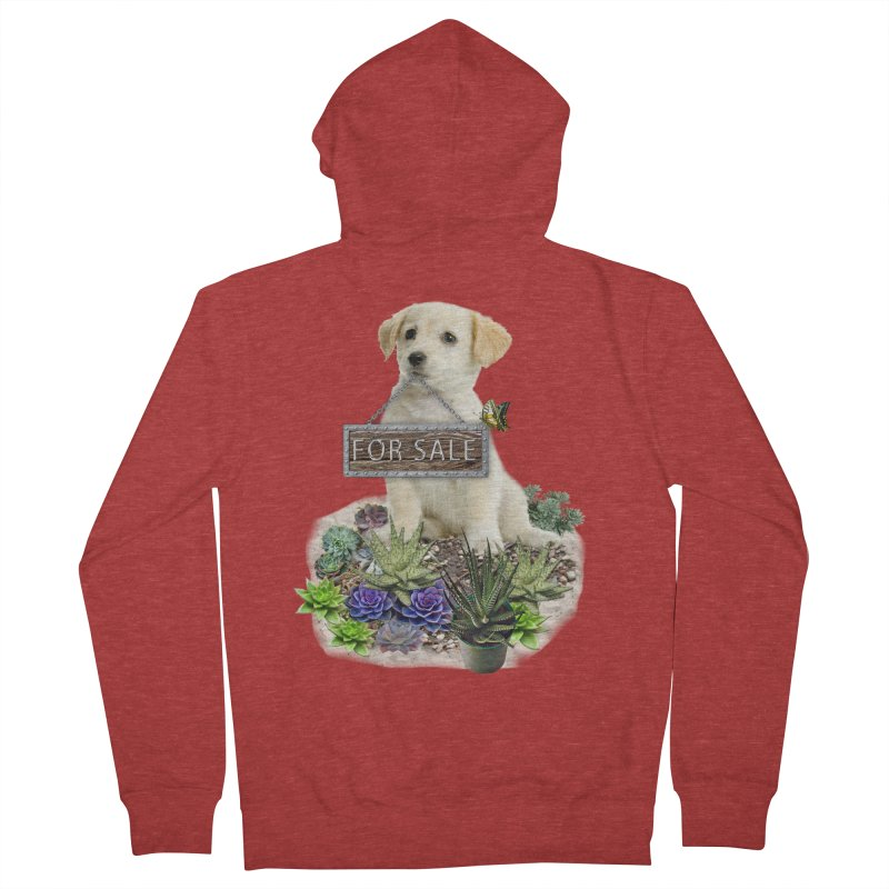 Labrador-Retriever puppy is for sale Women's Zip-Up Hoody by NadineMay Artist Shop