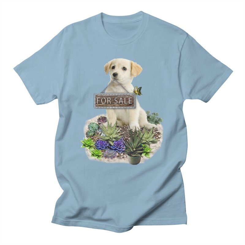Labrador-Retriever puppy is for sale Men's T-Shirt by NadineMay Artist Shop