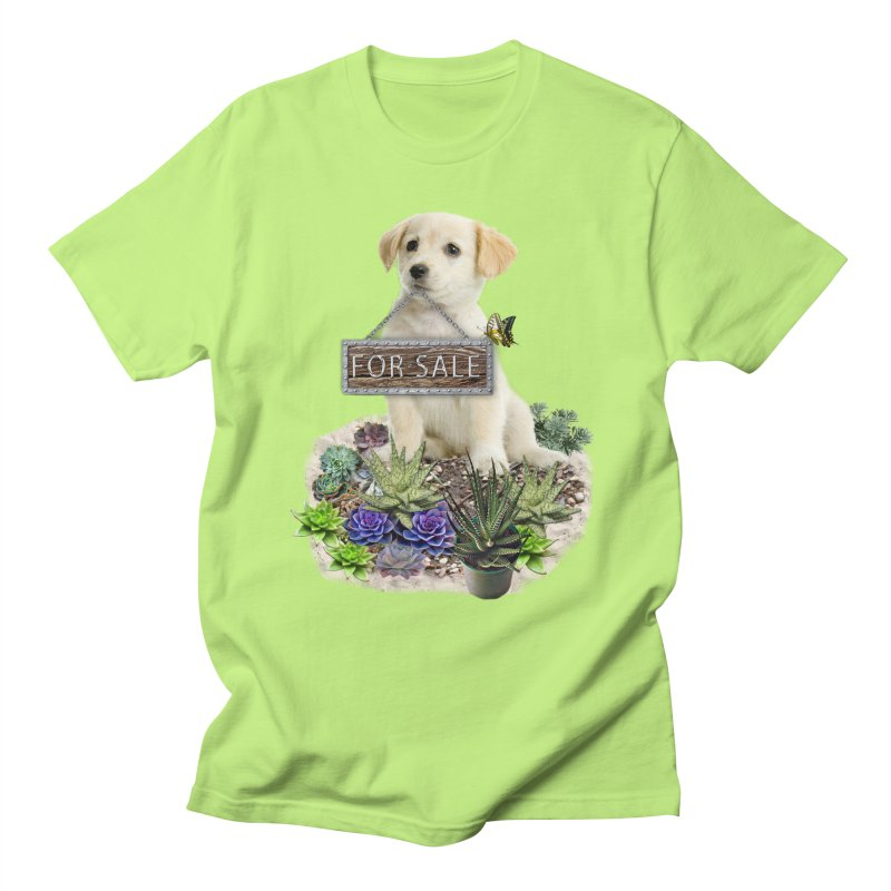 Labrador-Retriever puppy is for sale Men's Regular T-Shirt by NadineMay Artist Shop