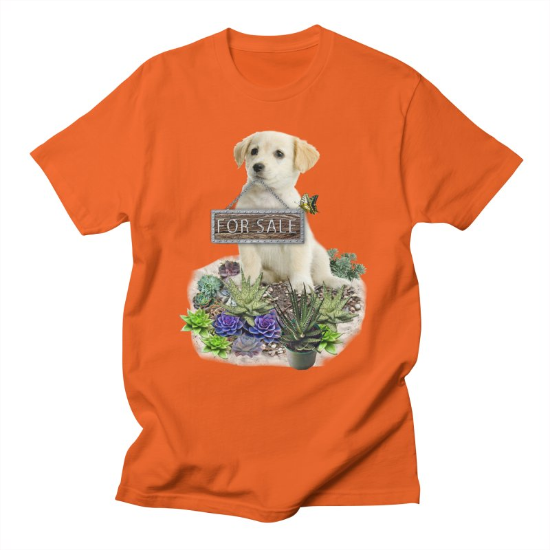 Labrador-Retriever puppy is for sale Men's Regular T-Shirt by NadineMay Artist Shop