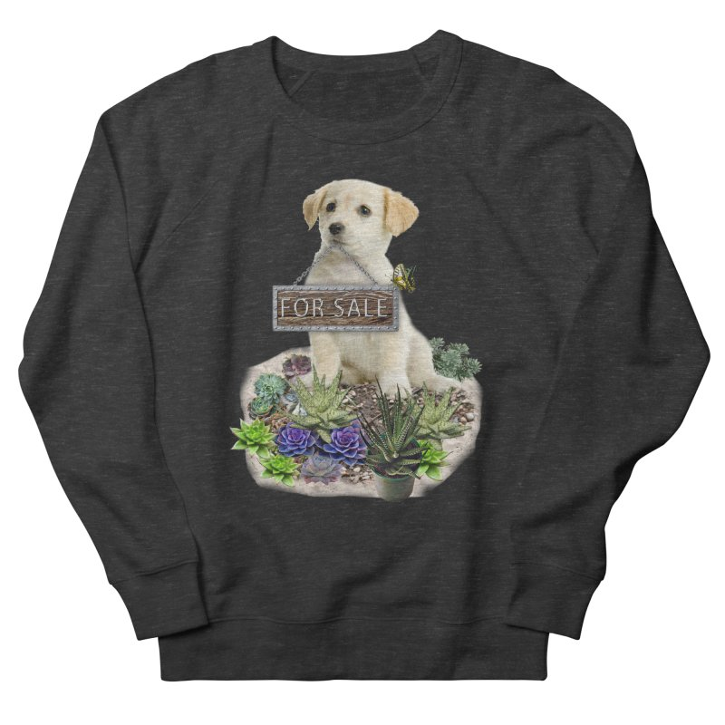 Labrador-Retriever puppy is for sale Women's French Terry Sweatshirt by NadineMay Artist Shop