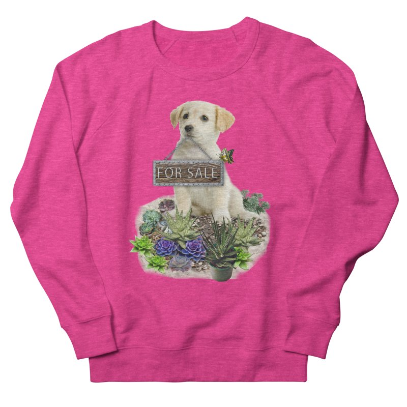 Labrador-Retriever puppy is for sale Women's Sweatshirt by NadineMay Artist Shop