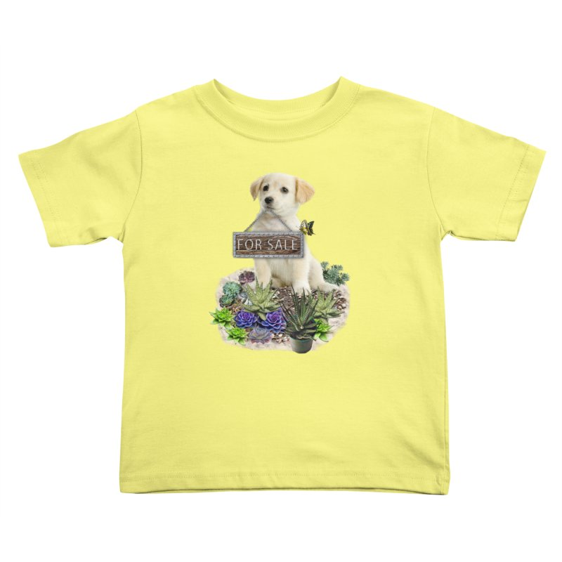 Labrador-Retriever puppy is for sale Kids Toddler T-Shirt by NadineMay Artist Shop