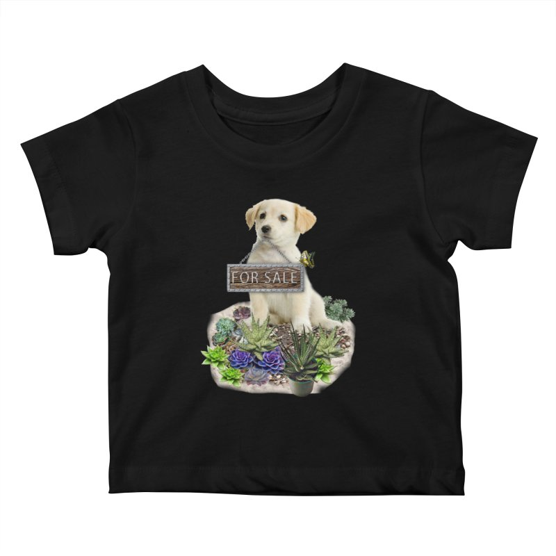 Labrador-Retriever puppy is for sale Kids Baby T-Shirt by NadineMay Artist Shop
