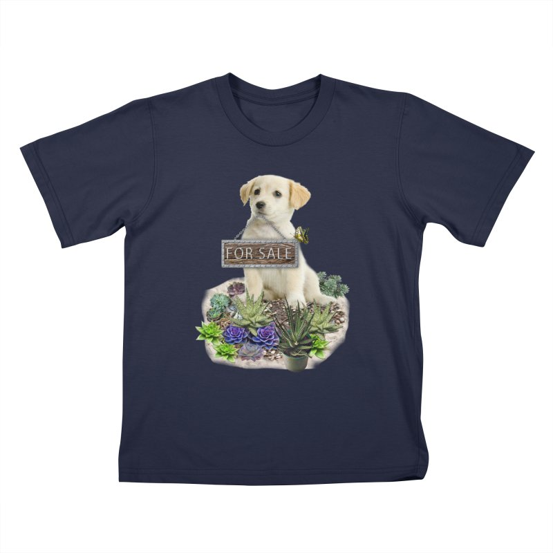 Labrador-Retriever puppy is for sale Kids T-Shirt by NadineMay Artist Shop
