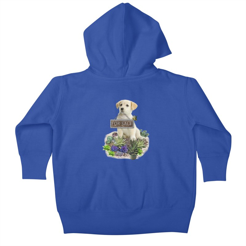 Labrador-Retriever puppy is for sale Kids Baby Zip-Up Hoody by NadineMay Artist Shop
