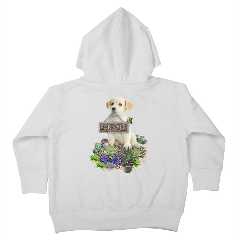 Labrador-Retriever puppy is for sale Kids Toddler Zip-Up Hoody by NadineMay Artist Shop