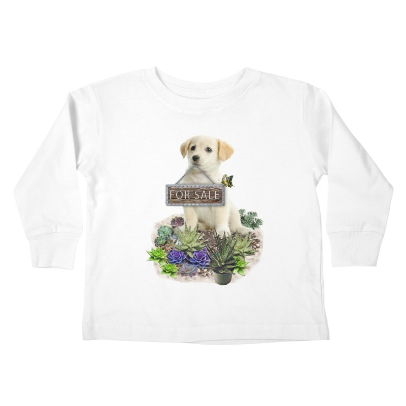 Labrador-Retriever puppy is for sale Kids Toddler Longsleeve T-Shirt by NadineMay Artist Shop