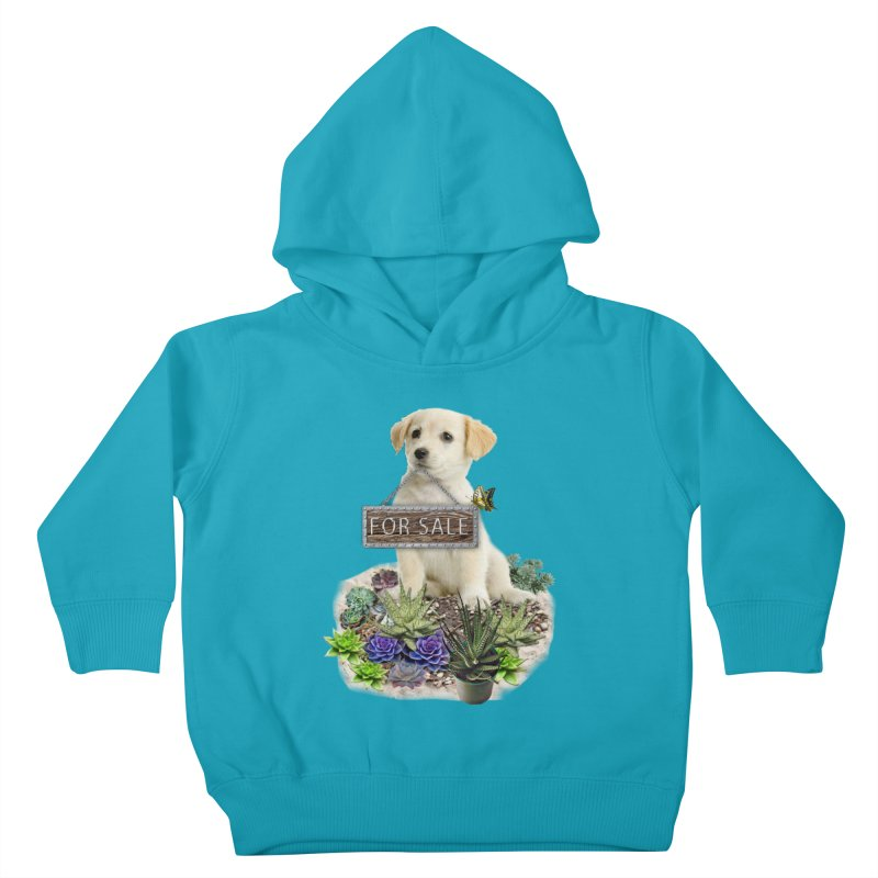 Labrador-Retriever puppy is for sale Kids Toddler Pullover Hoody by NadineMay Artist Shop