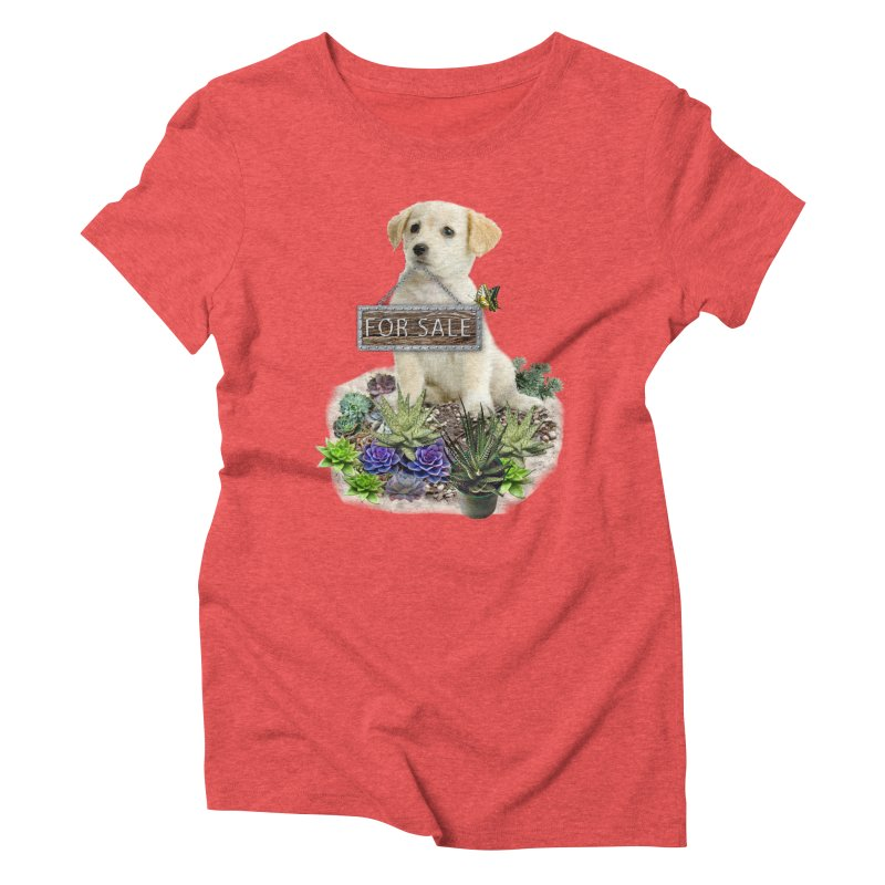 Labrador-Retriever puppy is for sale Women's Triblend T-shirt by NadineMay Artist Shop