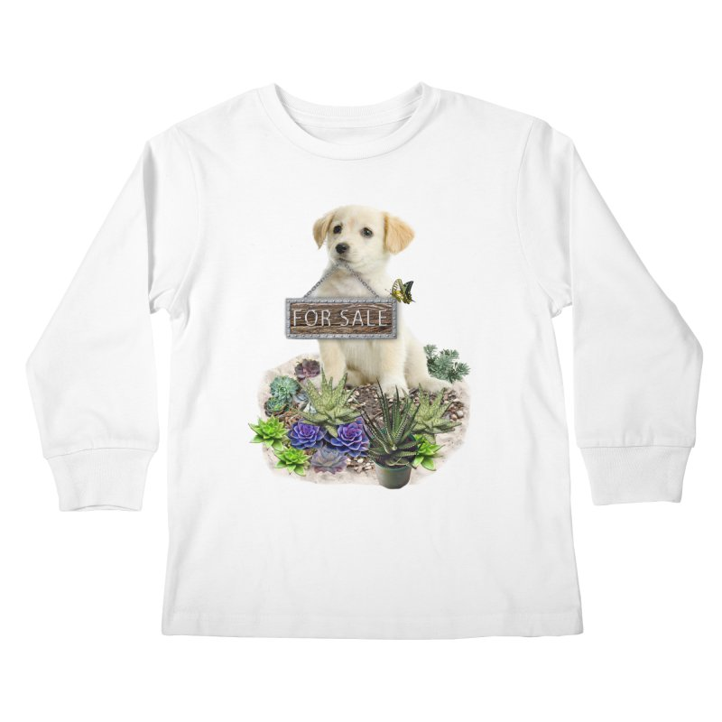 Labrador-Retriever puppy is for sale Kids Longsleeve T-Shirt by NadineMay Artist Shop