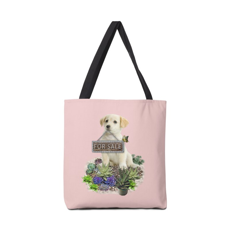 Labrador-Retriever puppy is for sale Accessories Bag by NadineMay Artist Shop
