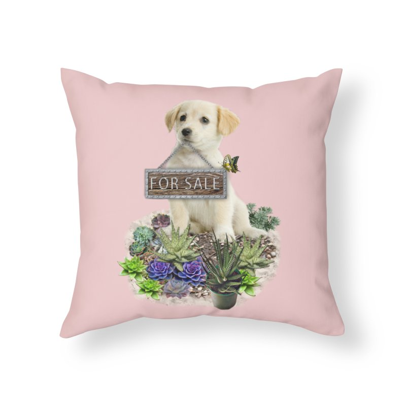 Labrador-Retriever puppy is for sale Home Throw Pillow by NadineMay Artist Shop
