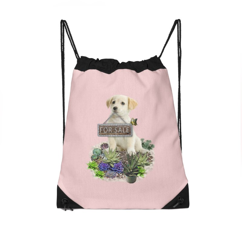 Labrador-Retriever puppy is for sale Accessories Drawstring Bag Bag by NadineMay Artist Shop