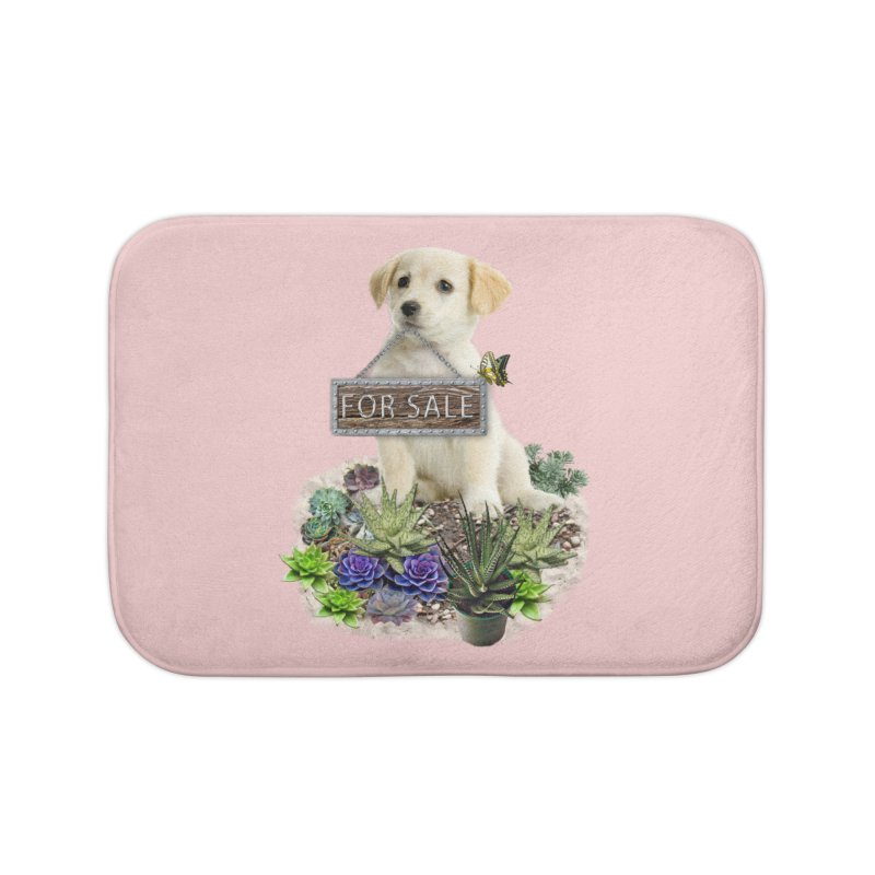 Labrador-Retriever puppy is for sale Home Bath Mat by NadineMay Artist Shop