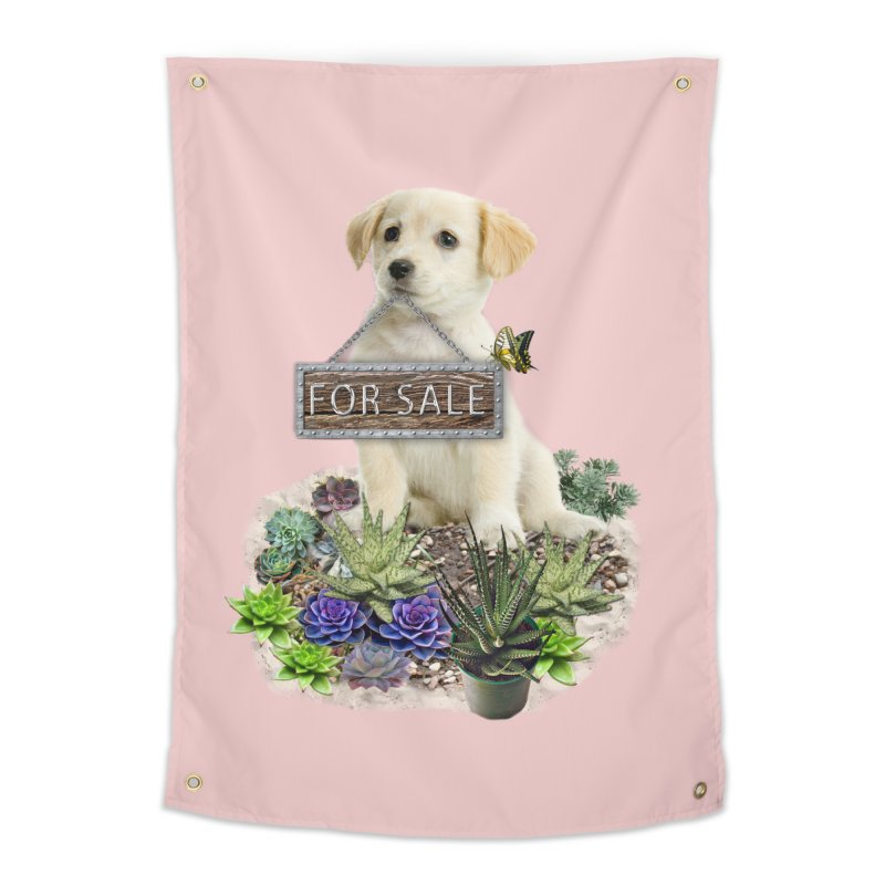 Labrador-Retriever puppy is for sale Home Tapestry by NadineMay Artist Shop