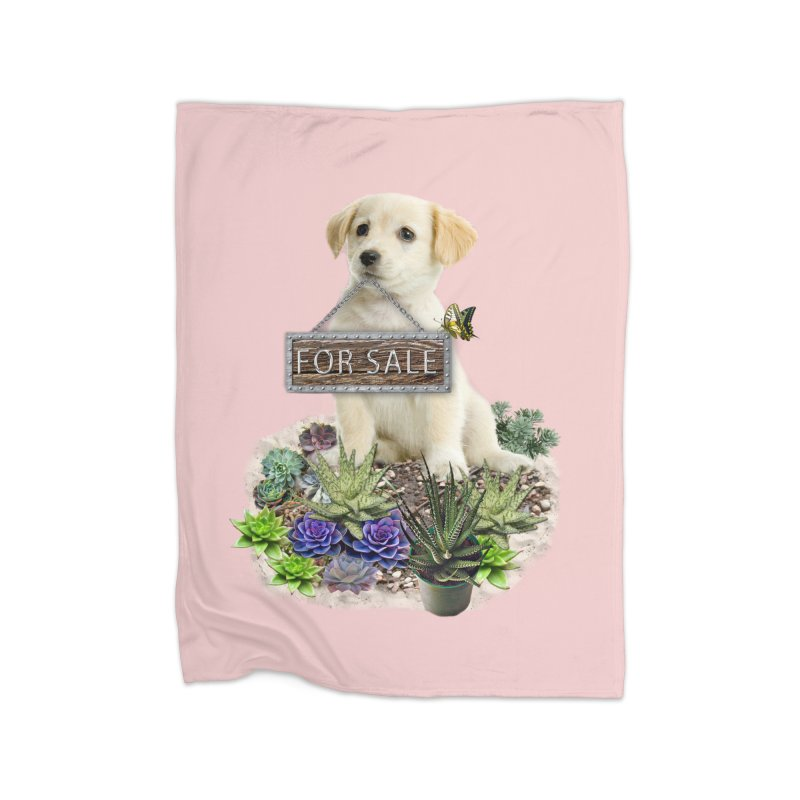 Labrador-Retriever puppy is for sale Home Blanket by NadineMay Artist Shop