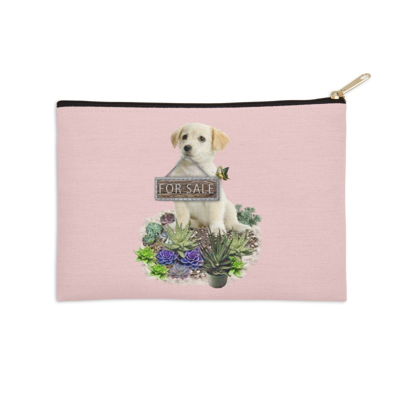Labrador-Retriever puppy is for sale Accessories Zip Pouch by NadineMay Artist Shop