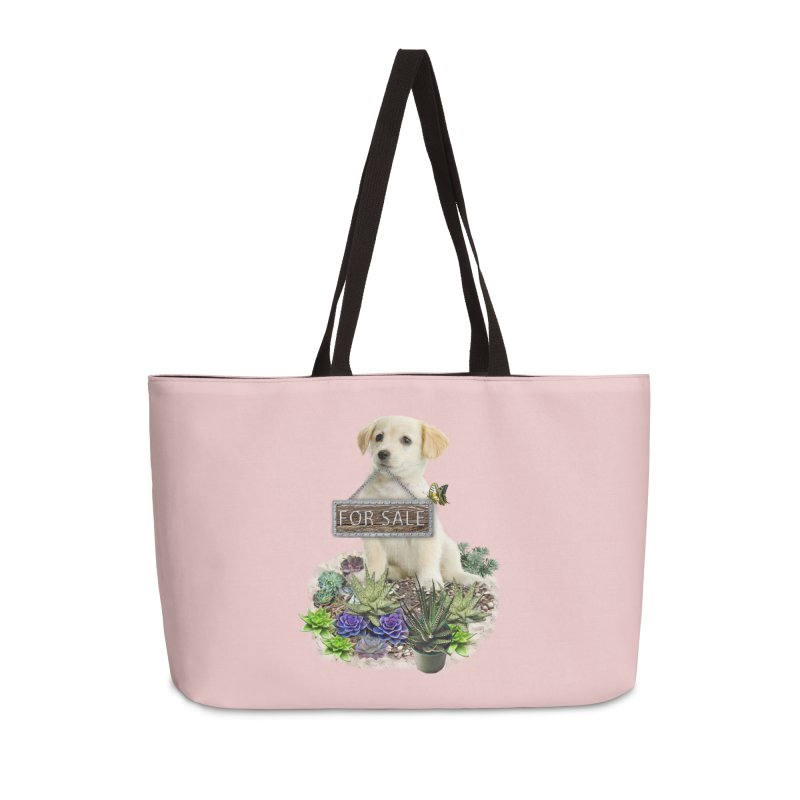 Labrador-Retriever puppy is for sale Accessories Weekender Bag Bag by NadineMay Artist Shop