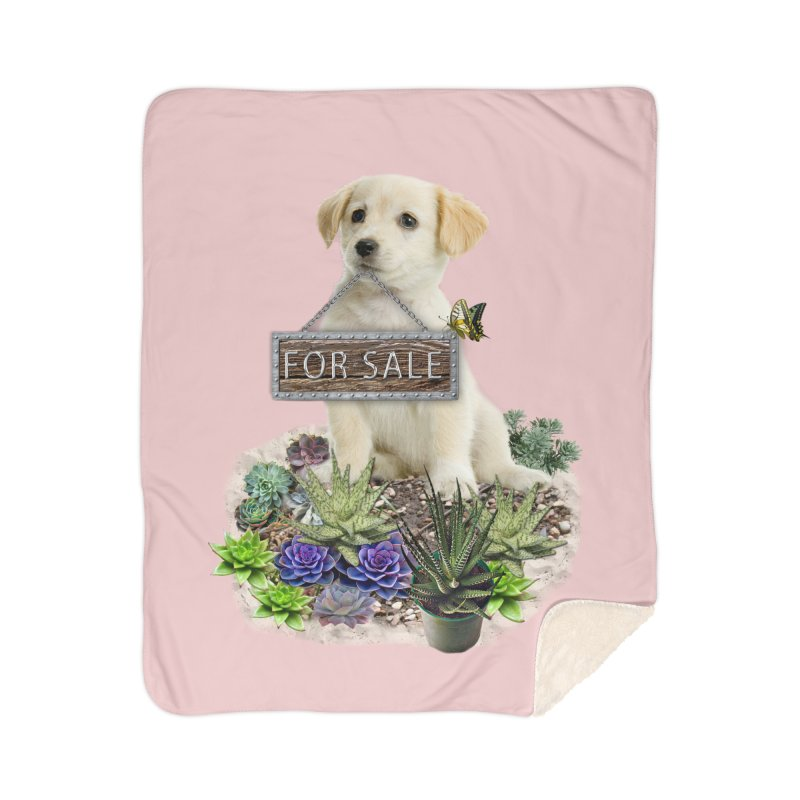 Labrador-Retriever puppy is for sale Home Sherpa Blanket Blanket by NadineMay Artist Shop