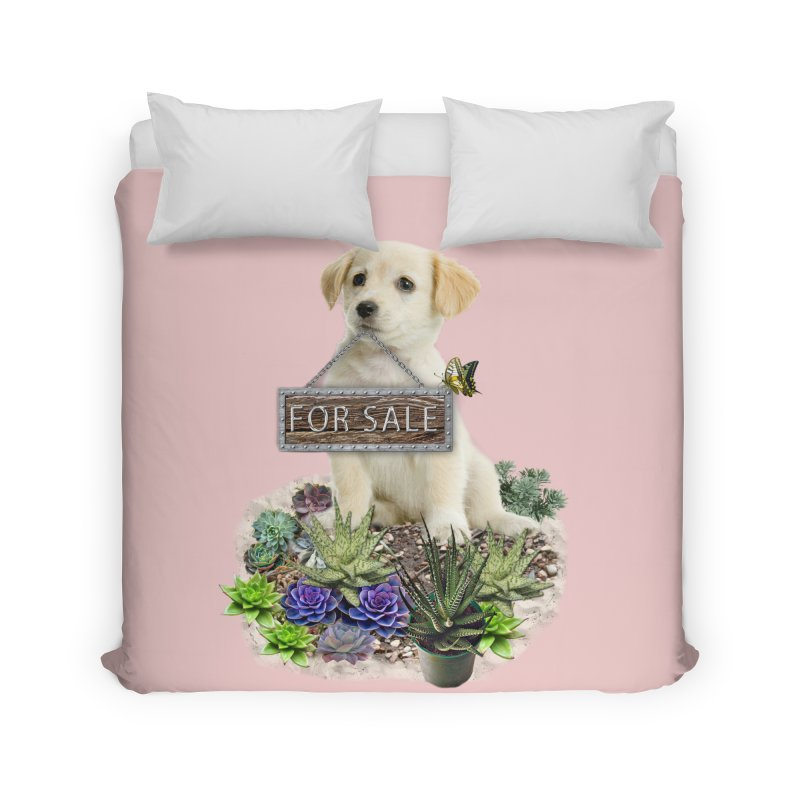 Labrador-Retriever puppy is for sale Home Duvet by NadineMay Artist Shop