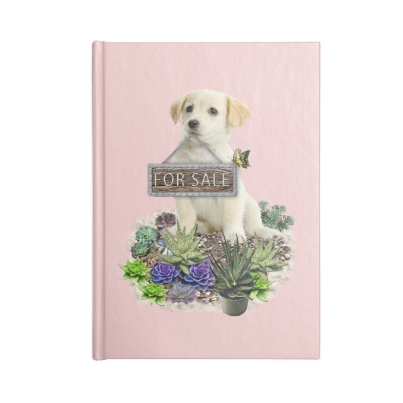 Labrador-Retriever puppy is for sale Accessories Notebook by NadineMay Artist Shop