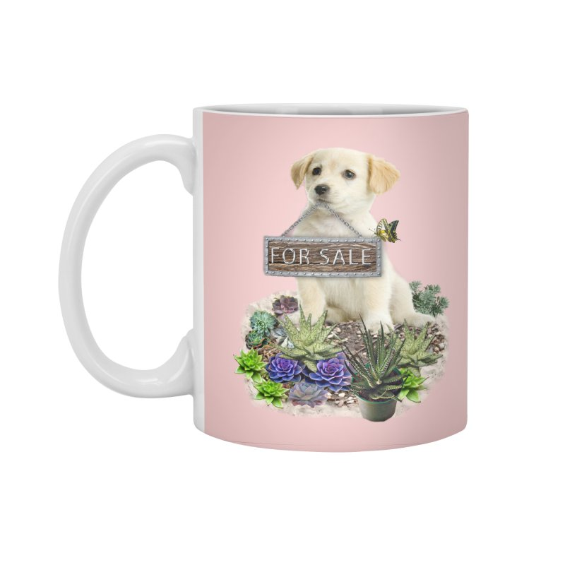 Labrador-Retriever puppy is for sale Accessories Standard Mug by NadineMay Artist Shop