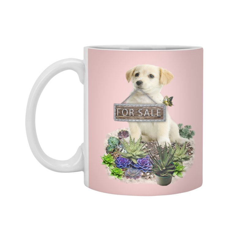 Labrador-Retriever puppy is for sale Accessories Mug by NadineMay Artist Shop