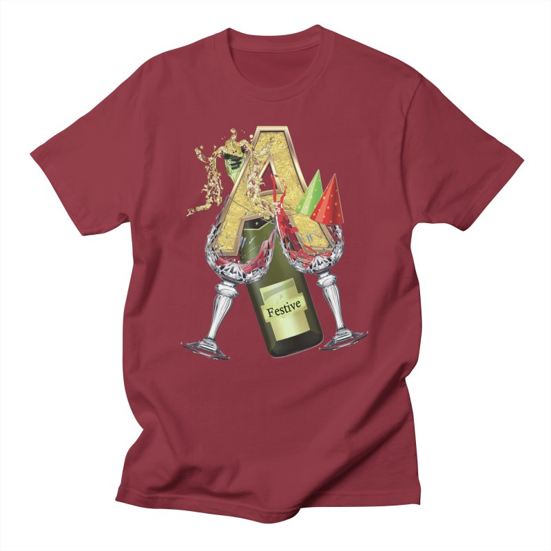 Festive-party letter A Men's Regular T-Shirt by NadineMay Artist Shop