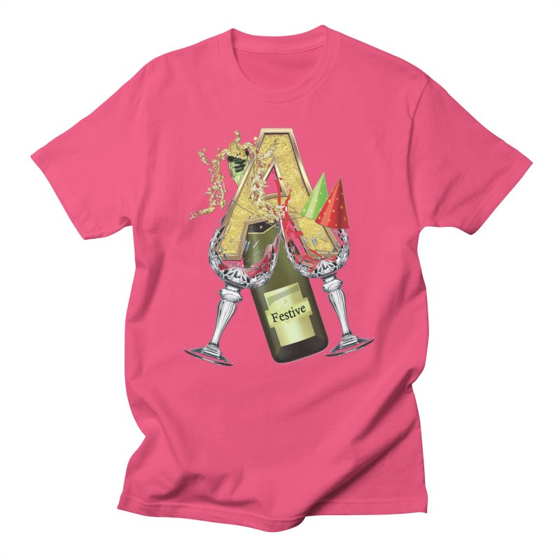 Festive-party letter A Men's T-shirt by NadineMay Artist Shop
