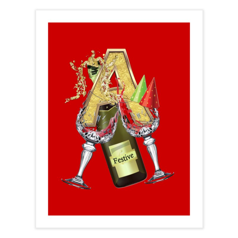 Festive-party letter A Home Fine Art Print by NadineMay Artist Shop