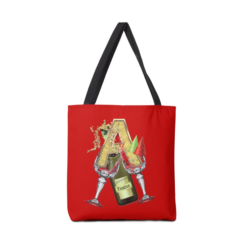 Festive-party letter A Accessories Bag by NadineMay Artist Shop