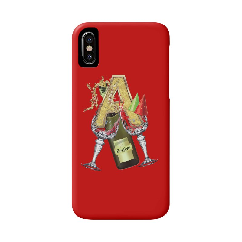 Festive-party letter A Accessories Phone Case by NadineMay Artist Shop